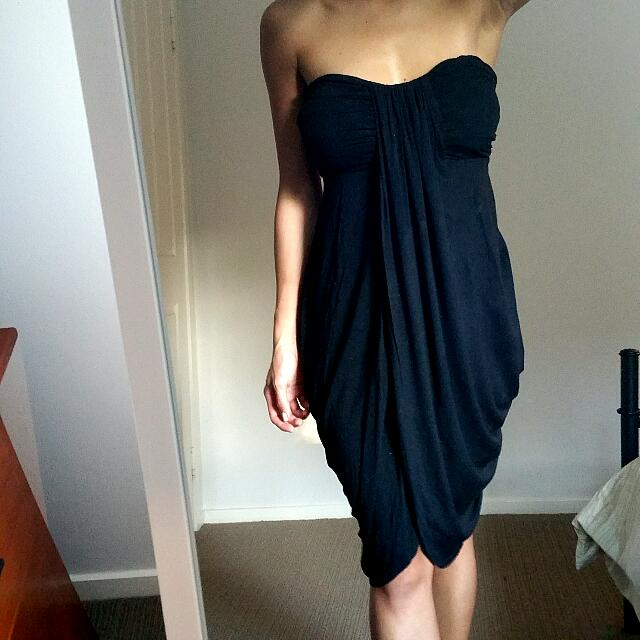 Strapless Drape Dress