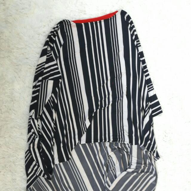 Striped Caped Martin Bautista Dress
