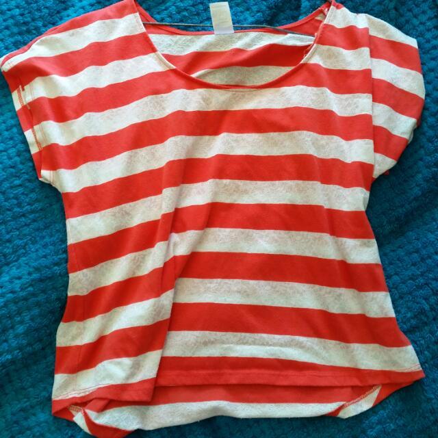 Striped Crop Shirt