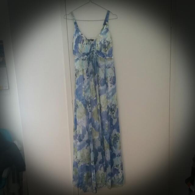 Stylish Maternity -  Floral Maxi Feeding Dress. Size S