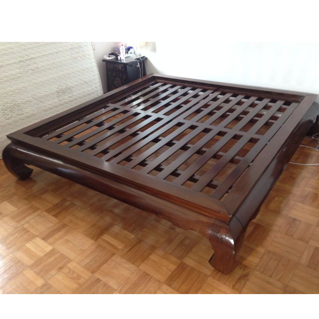 sale retailer 179a6 72bc1 Super King Size Mahogany Bed Frame, Furniture on Carousell