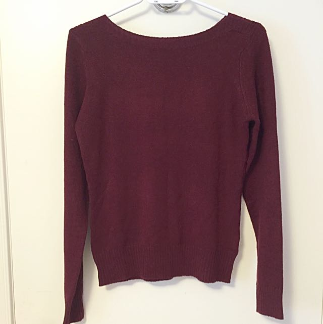 Suzy Shier Burgandy Sweater