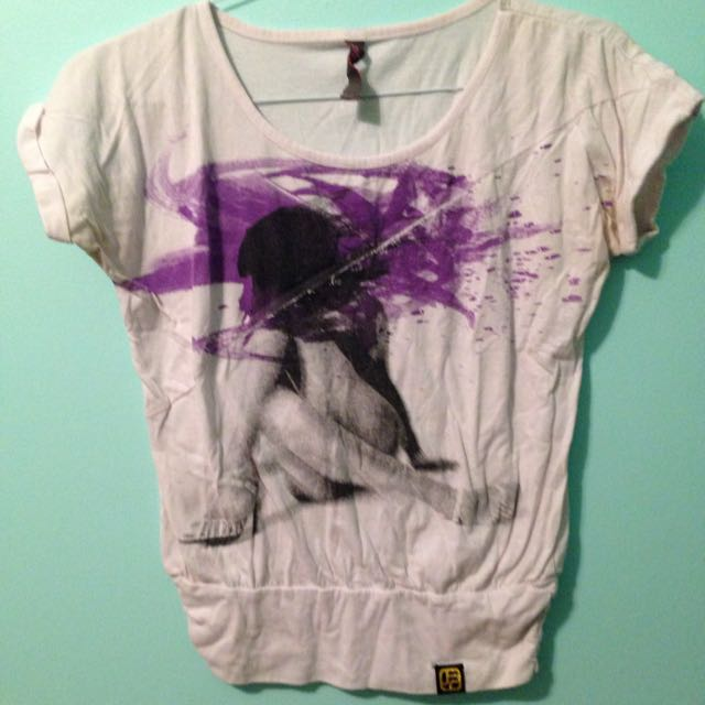 White And Purple T-shirt