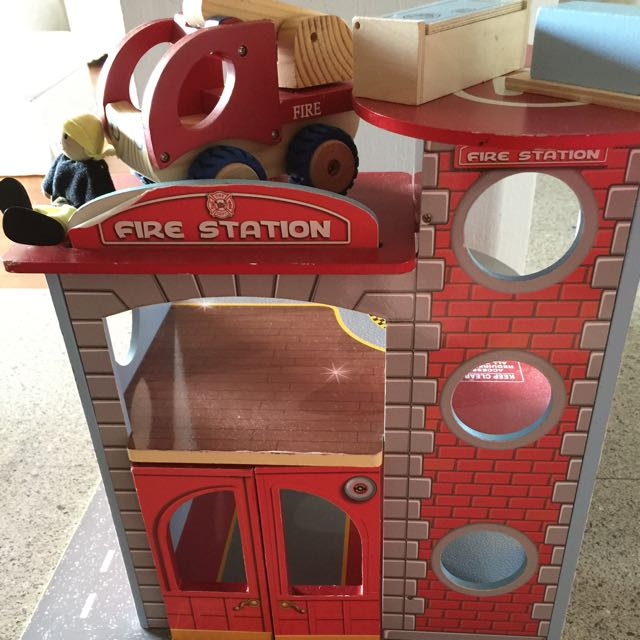 Wooden firehouse