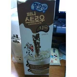 巧克力吸管   神奇吸管  韓國咕嚕嚕神奇吸管