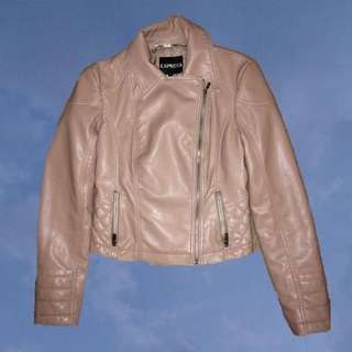 EXPRESS Nude Leather Jacket
