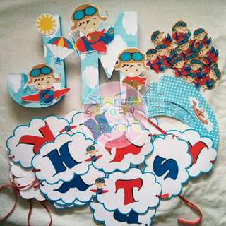 Letter Standees, Buntings & Cupcake wrapper
