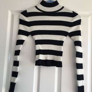 Valleygirl Navy Striped Knit