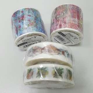 mas*T藍色粉色拼貼+konohana 好花 瀨戶魚、果實 紙膠帶