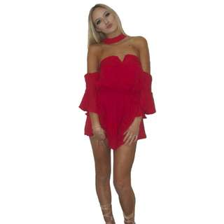 LEX farron Playsuit Red