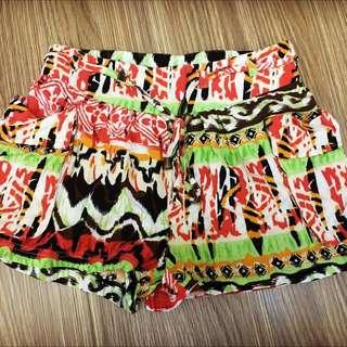 異國風 口袋ㄦ 歐美 短褲 鬆緊 綁帶