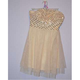 Short gold prom/party dress