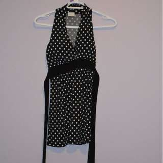 Polka dots dress top