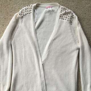 Supre Cardigan Eighth Stud Shoulders