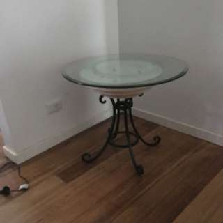 2 Round Glass Tables