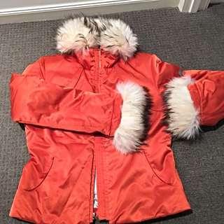 Metropolis Orange Ski Insulated Jacket Women's