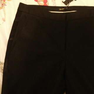 Maje Black Trouser Pants New W/Tags