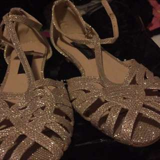 Forever New sparkly flats