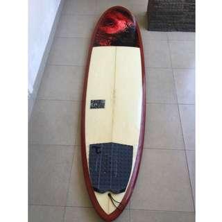 Luke Studer Torpedo Surfboard Surf Board + FCS Quad Fin