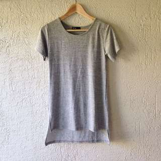 Grey High-low Style Tunic Top