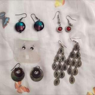 Bundle 5 Pairs Earrings
