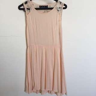 Cream Sleeveless Beach Dress