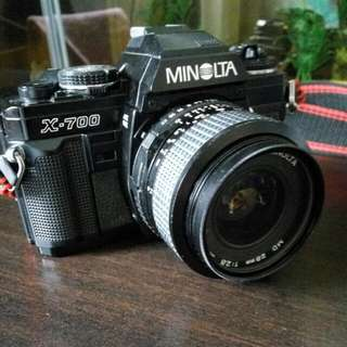 Minolta X-700 Film SLR Camera + Minolta Len MD 28mm f/2.8
