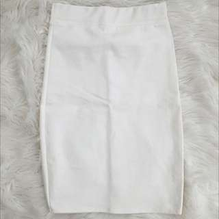 Basic White Pencil Skirt