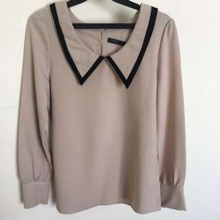 Long Sleeve Cream Shirt