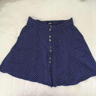 Dotti - Mini Polkadot Blue Skirt