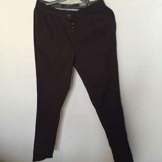 Zara Trf - Dark Brown Chino Pants