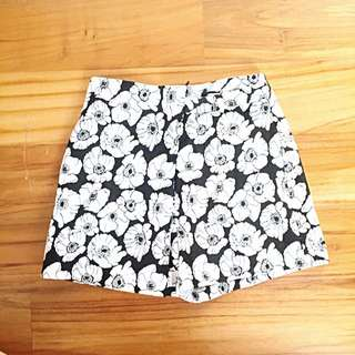 Flower Pattern Miss Selfridge Skort