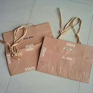 Miu Miu Paperbag