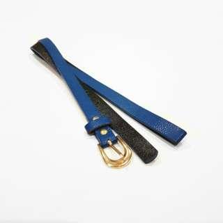 NEW Skinny Blue Belt
