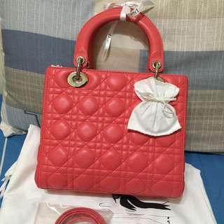 Preloved Lady Dior Coral Shw