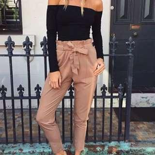 Size 10 Beige Womens Slouch Pants