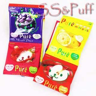 現貨!日本Pure mini四連糖軟糖(檸檬/蘋果/葡萄/草莓)
