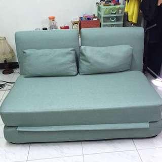 兩用沙發床 藍綠色