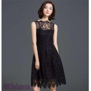Black Elegant Cocktail Dress