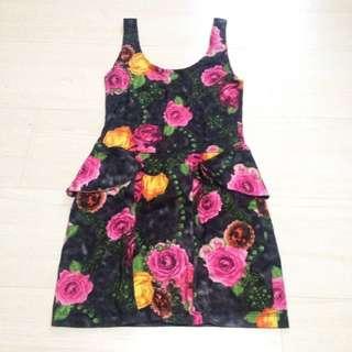 Low Back Peplum Dress