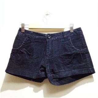 Black Suede Shorts