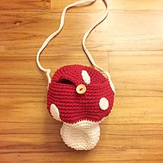Cute Red Mushroom Sling Bag