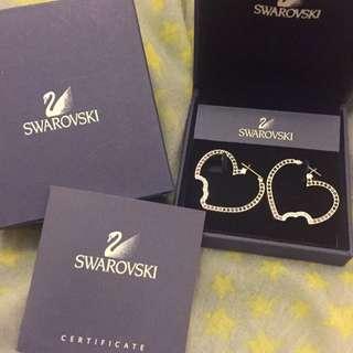 Swarovski 三色水晶耳環