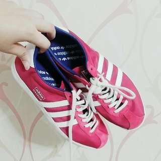 #二手 Adidas Original Gazelle 粉紫色 8成新
