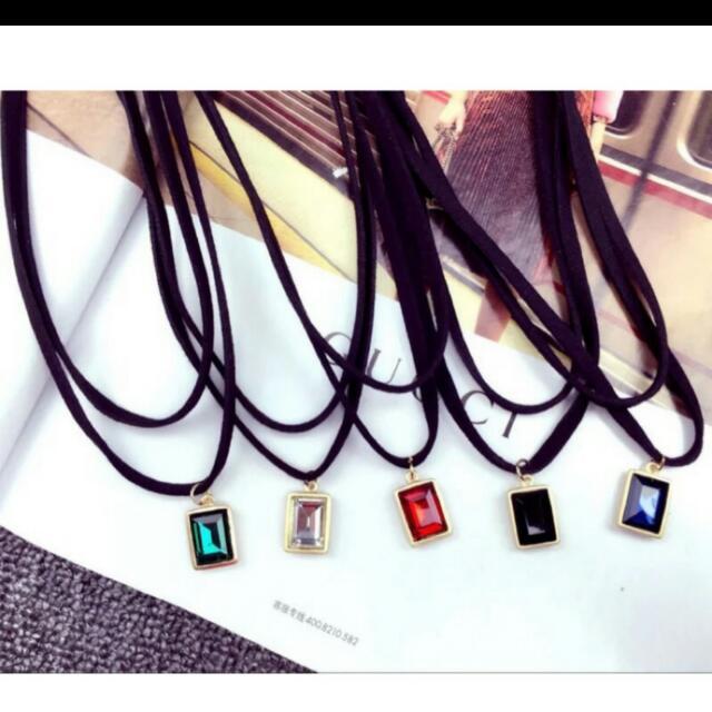 韓系♡寶石頸鍊
