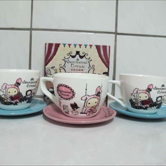 深情馬戲團咖啡優雅杯盤組