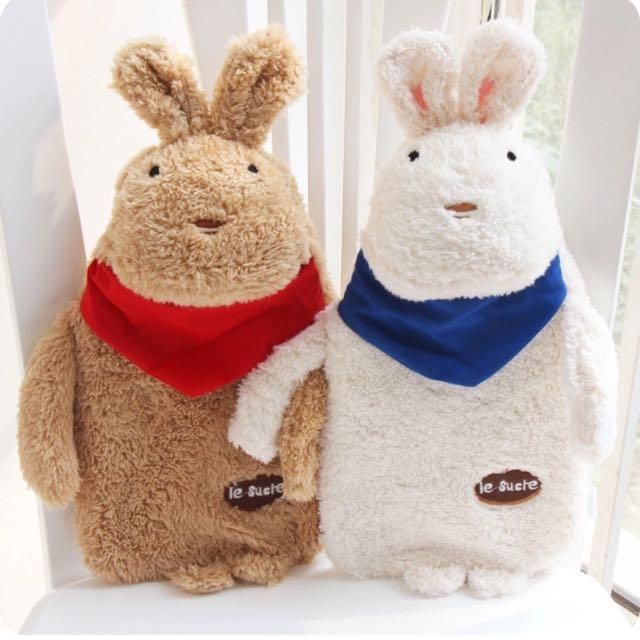 情侶兔熱水袋