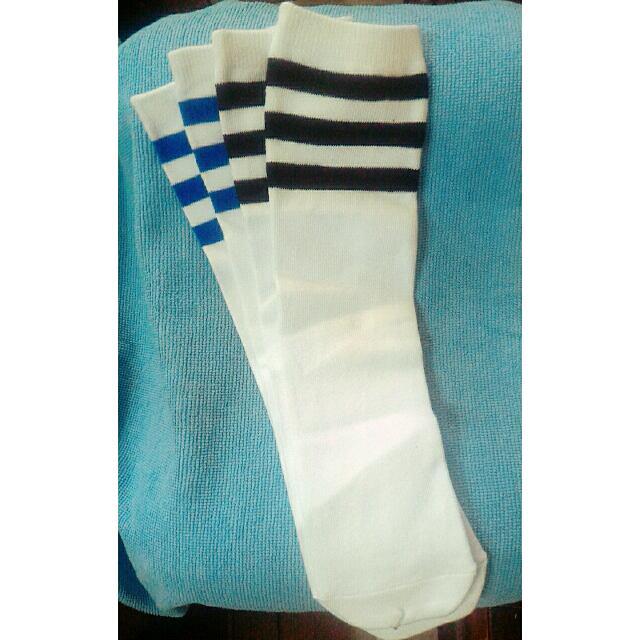 黑條藍條白底長襪👍