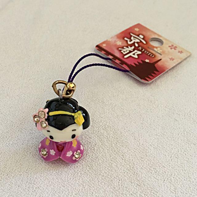 🎎超卡哇伊粉嫩和服手機吊飾🎎(日本購入)