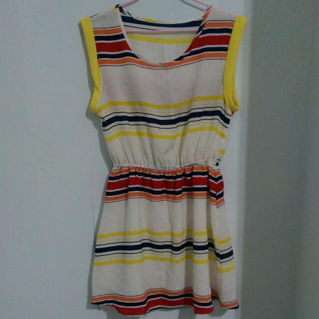 日系條紋洋裝